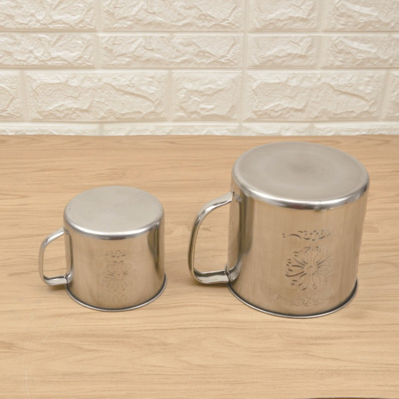 1600ml Hot Selling Stainless Steel Coffee Mugs with Flower Engraved