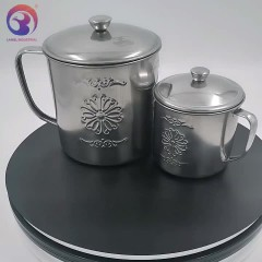 1600ml Hot Selling Stainless Steel Coffee Mugs with Flower Engraved LBSC2102