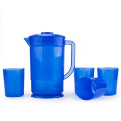 High Quality 2L Plastic Water Beer Jug Set with Side Handle