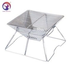 Portable Folding Charcoal Stainless Steel Barbecue BBQ Grill as Camping Stove Outdoor