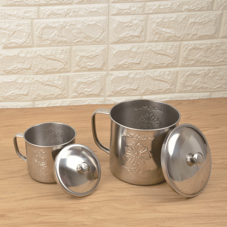 1600mlHotSellingStainlessSteelCoffeeMugswithFlowerEngraved-LBSC2102