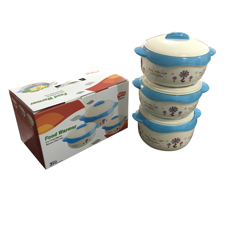 Customized3PcsSetInsulationStainlessSteelLunchBowlFoodContainer-LB1509