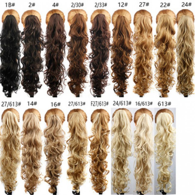 2019 Wholesale New Popular Corn Hot Flush Pony Horses Tail Realistic Human Hair Wig