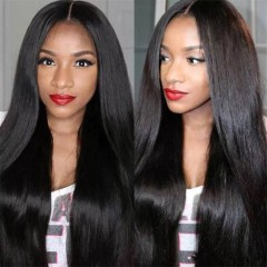China Product Black Long Straight Wig Hot Sale Brazilian Hair Wig Human Hair Wigs