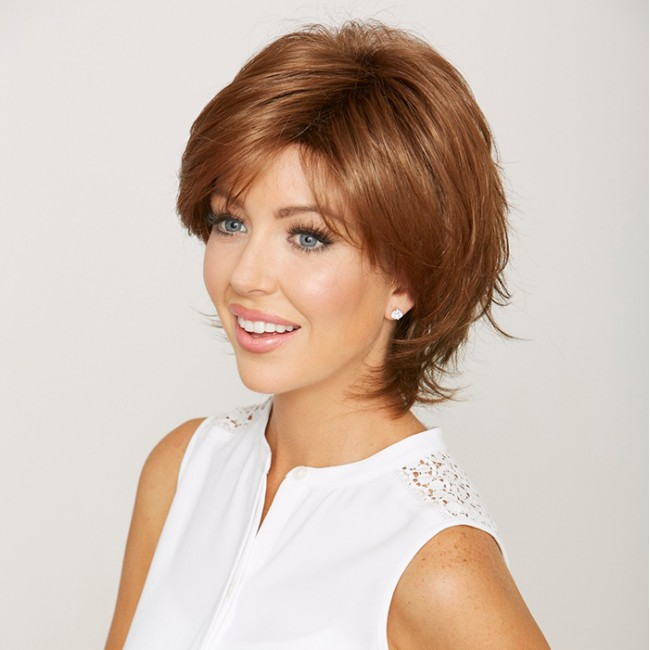 Good Quality Fashion Natural Looking Mono Top Short Bob Synthetic Wig
