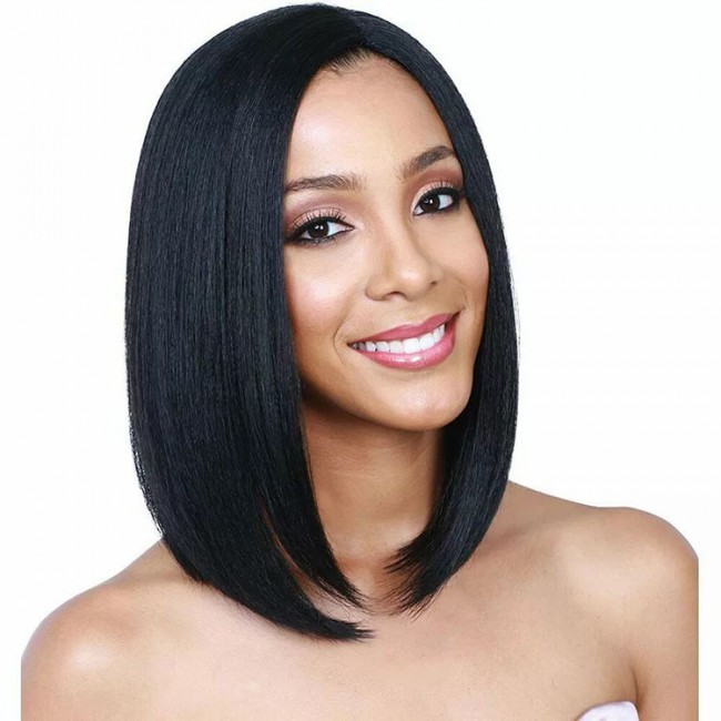 New Arrival Black Straight Synthetic Wigs 2019 Amazon Hot Selling Short Wigs