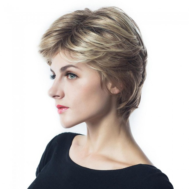 New Design Wholesale Mix Color Synthetic Wig Fashion short synthetic wig
