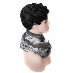 Sissi Hair Short Black Water Finger Wave Wig  Short Remy Human Hair Curly Wig for Black Women