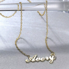 "Soufeel Gold ""Carrie"" Style Name Necklace"