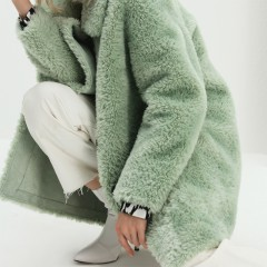 European new fashion faux fur winter coat