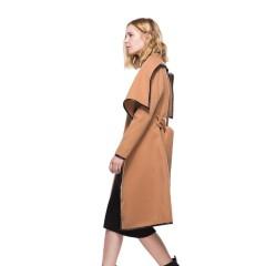 2019 autumn and winter New woolen coat women's Double velvet