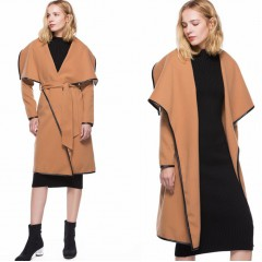 2019 autumn and winter New woolen coat women's Double velvet