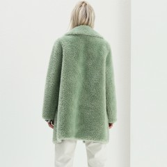 European new fashion faux fur winter coat