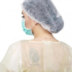 nonwoven disposable surgical hair dustproof double elastic bouffant cap