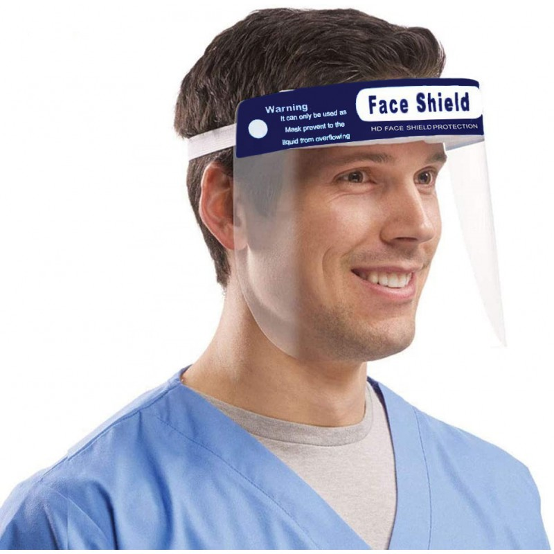 Hot Sale Safety Certification Disposable plastic protective Face Shield visor